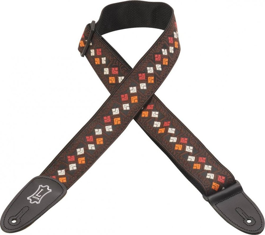 View larger image of Levy's M8HT-15  2 60's Hootenanny Jacquard Weave Guitar Strap