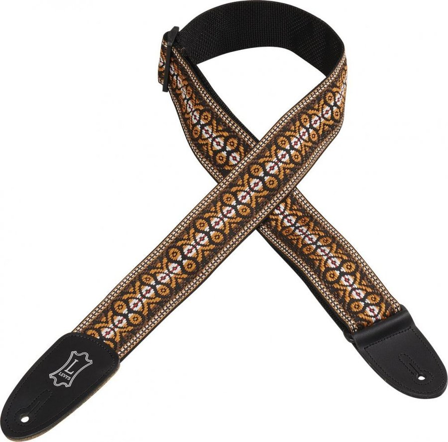 View larger image of Levy's M8HT-20 2 60s Hootenanny Jacquard Weave Guitar Strap