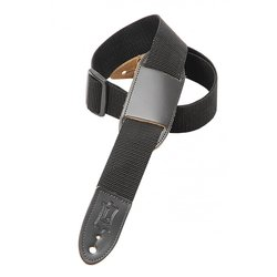 Levy's M8PJ 1 1/2 Polypropylene Youth Guitar/Ukulele Strap with Moveable Leather Pad - Black