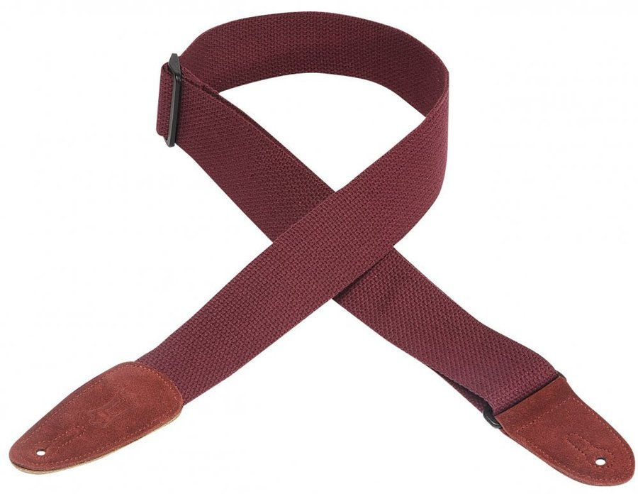 View larger image of Levy's MC8 2 Cotton Guitar Strap - Burgundy