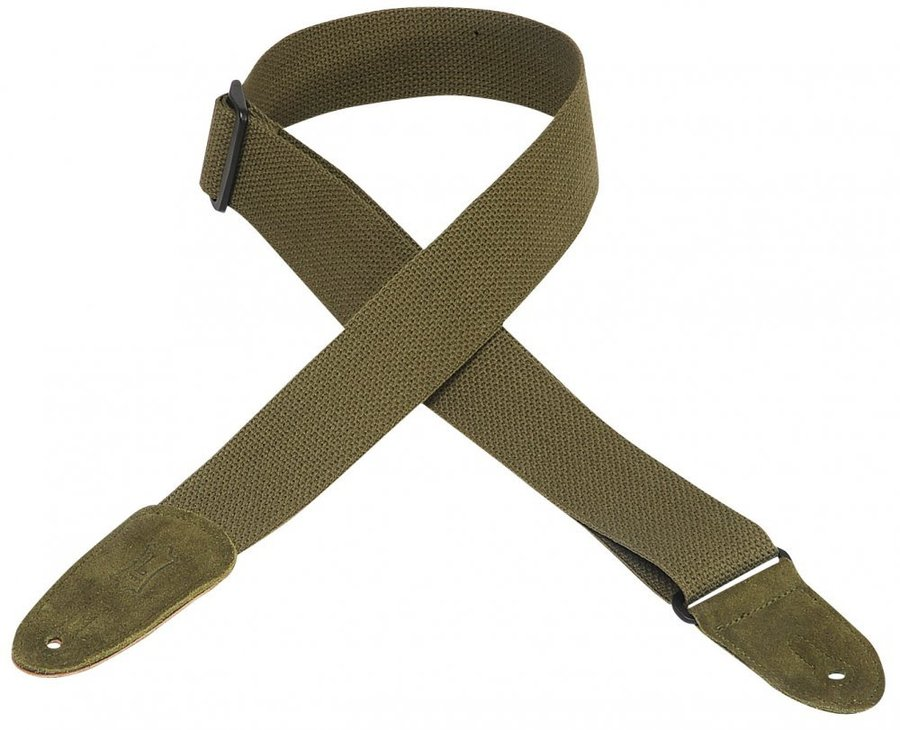 View larger image of Levy's MC8 2 Cotton Guitar Strap - Green