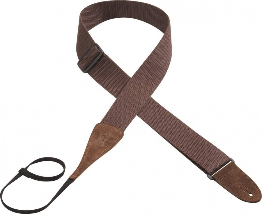 View larger image of Levy's MC8A 2 Cotton Guitar Strap - Brown