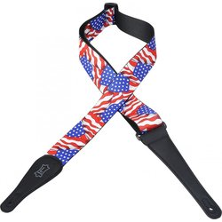 Levy's MP-09 2 Polyester Guitar Strap - American Flag