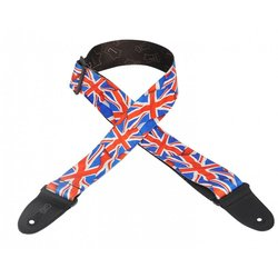 Levy's MP-29 2 Polyester Guitar Strap - Great Britain Flag