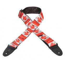 Levy's MP-31 2 Polyester Guitar Strap - Canadian Flag