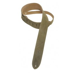 Levy's MS12 2 Suede Guitar Strap - Green