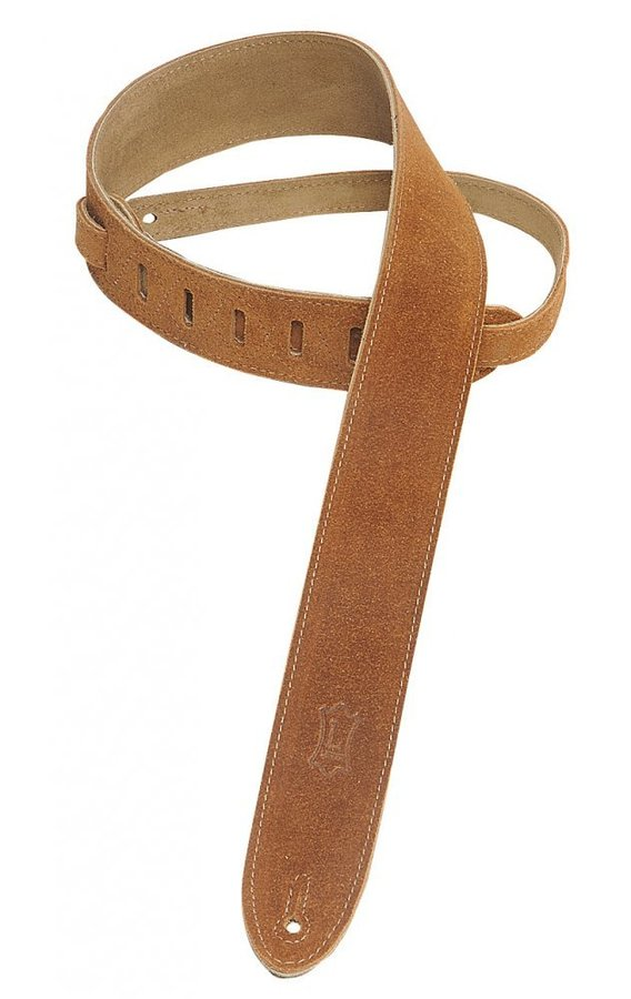 View larger image of Levy's MS12 2 Suede Guitar Strap - Honey