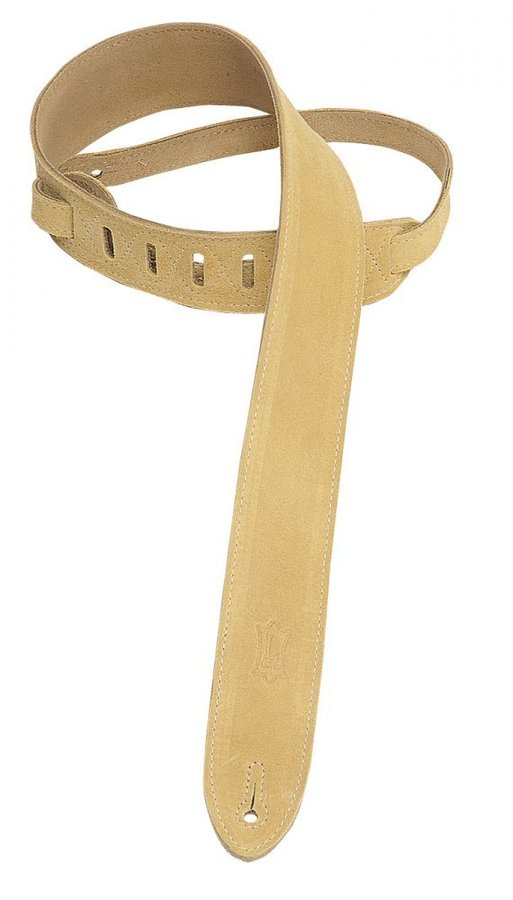 View larger image of Levy's MS12 2 Suede Guitar Strap - Tan