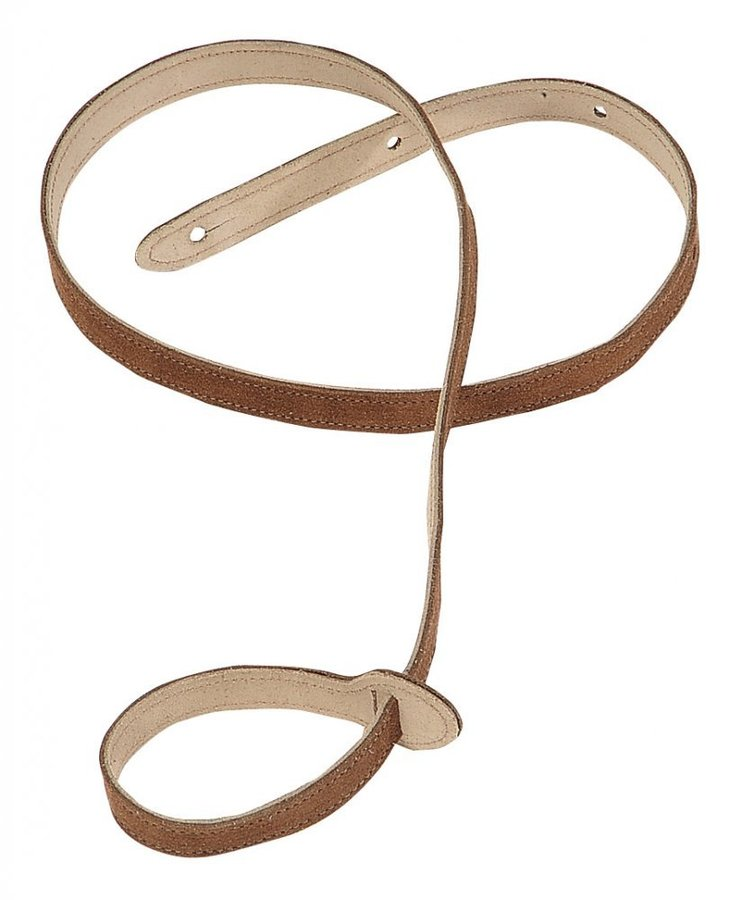 View larger image of Levy's MS19 3/4 Suede Leather Mandolin Strap - Brown