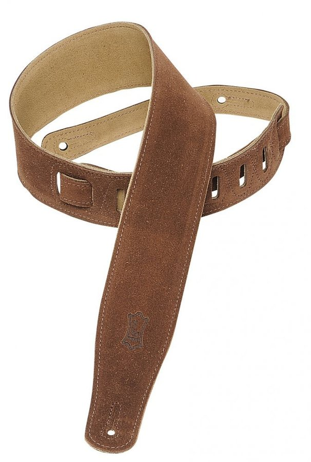 View larger image of Levy's MS26 2 1/2 Suede Guitar Strap - Brown