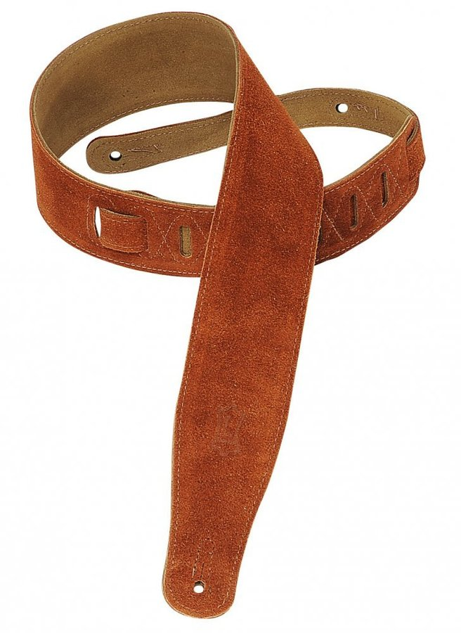 View larger image of Levy's MS26 2 1/2 Suede Guitar Strap - Copper