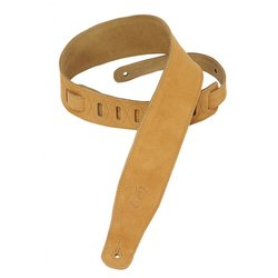 Levy's MS26 2 1/2 Suede Guitar Strap - Honey