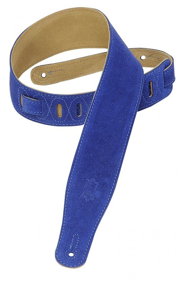 View larger image of Levy's MS26 2 1/2 Suede Guitar Strap - Royal Blue