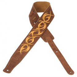 Levy's MS26E-001 2 1/2 Suede Guitar Strap with Embroidered Design