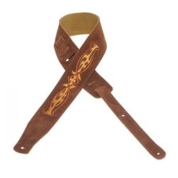 Levy's MS26E004 2 1/2 Suede Guitar Strap with Embroidered Design