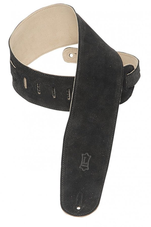 View larger image of Levy's MS4 3 1/2 Suede Guitar Strap for Bass - Black