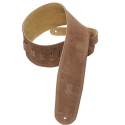 Levy's MS4 3 1/2 Suede Guitar Strap for Bass - Brown