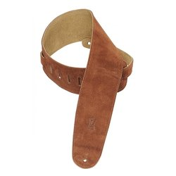 Levy's MS4 3 1/2 Suede Guitar Strap for Bass - Rust