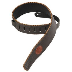 Levy's MSS13 2 1/2 Signature Series Garment Leather Guitar Strap with Foam Padding - Dark Brown