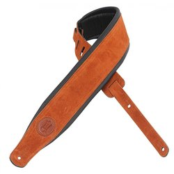 Levy's MSS2S 3 Signature Series Suede Leather Guitar Strap with Foam Padding - Copper
