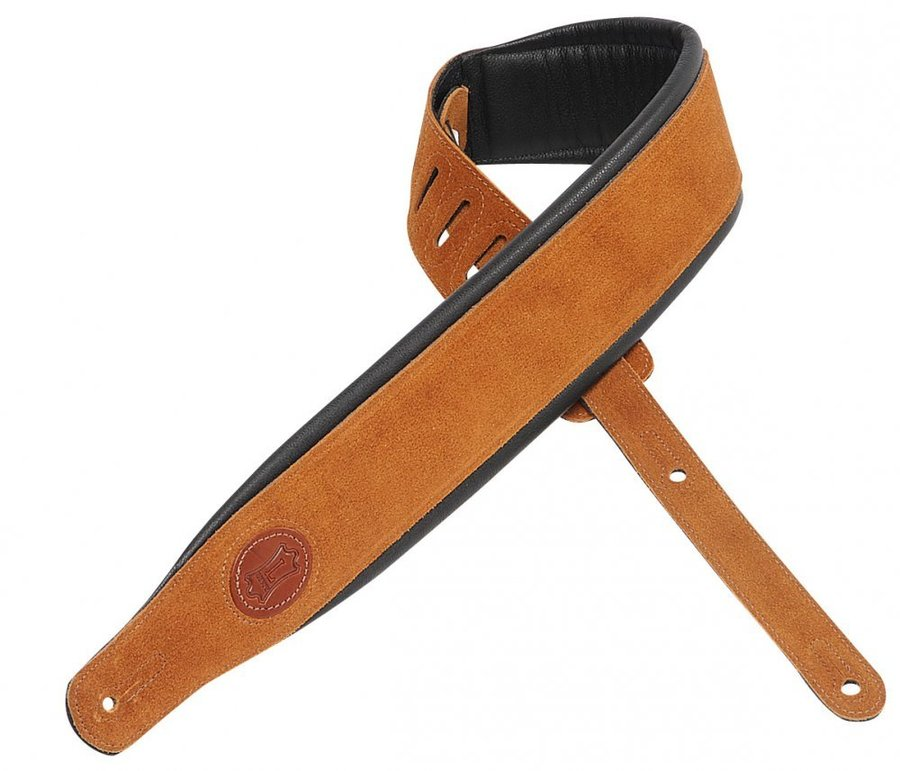 View larger image of Levy's MSS2S 3 Signature Series Suede Leather Guitar Strap with Foam Padding - Honey