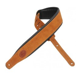 Levy's MSS2S 3 Signature Series Suede Leather Guitar Strap with Foam Padding - Honey