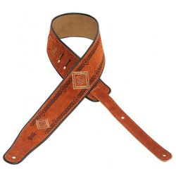Levy's MSS3EP-003 2 1/2 Suede Guitar Strap with Embroidered and Printed Design