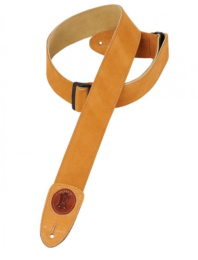 View larger image of Levy's MSS7 2 Signature Series Suede Guitar Strap with Tri-Glide Adjustment - Honey