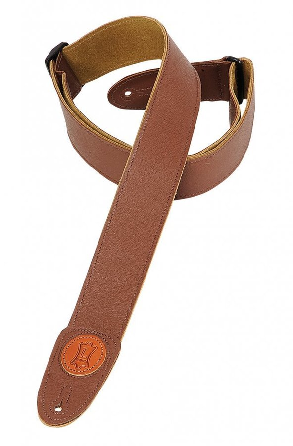 View larger image of Levy's MSS7G 2 Signature Series Garment Leather Guitar Strap - Brown