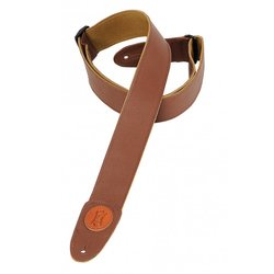 Levy's MSS7G 2 Signature Series Garment Leather Guitar Strap - Brown