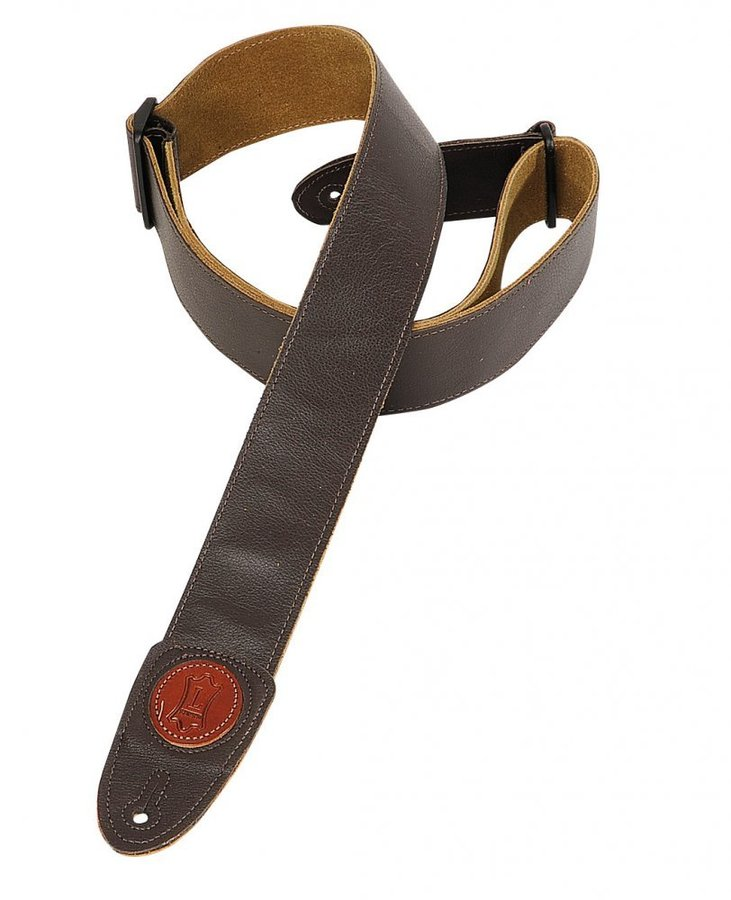 View larger image of Levy's MSS7G 2 Signature Series Garment Leather Guitar Strap - Dark Brown