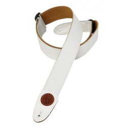 Levy's MSS7G 2 Signature Series Garment Leather Guitar Strap - White