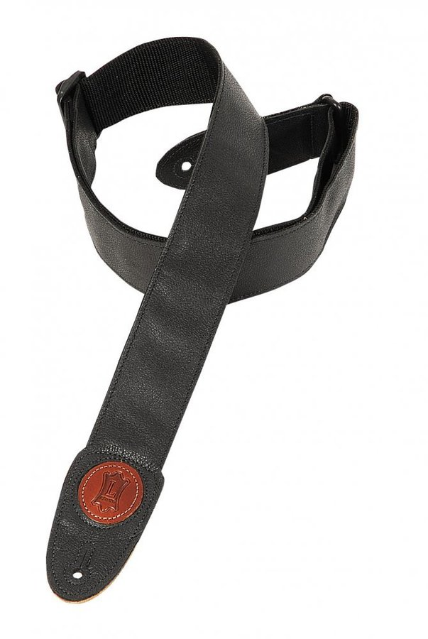 View larger image of Levy's MSS7GP 2 Signature Series Garment Leather Guitar Strap - Black