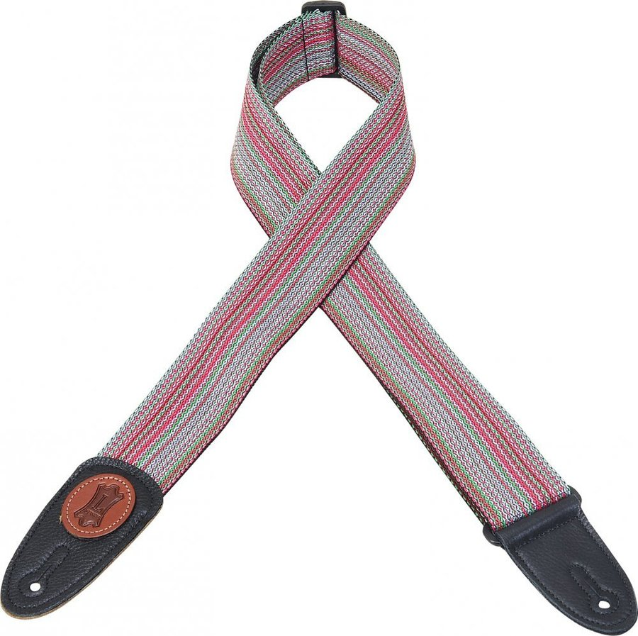 View larger image of Levy's MSS8 2 Signature Series Soft-Hand Polypropylene Guitar Strap - Multi-Colour