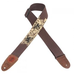 Levy's  MSSC8EP-004 2 Cotton Guitar Strap with Printed and Embroidered Design