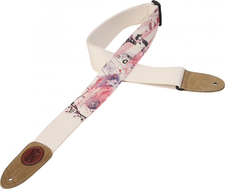 View larger image of Levy's MSSC8U-003 2 Cotton Guitar Strap with Urban-Style Design Print