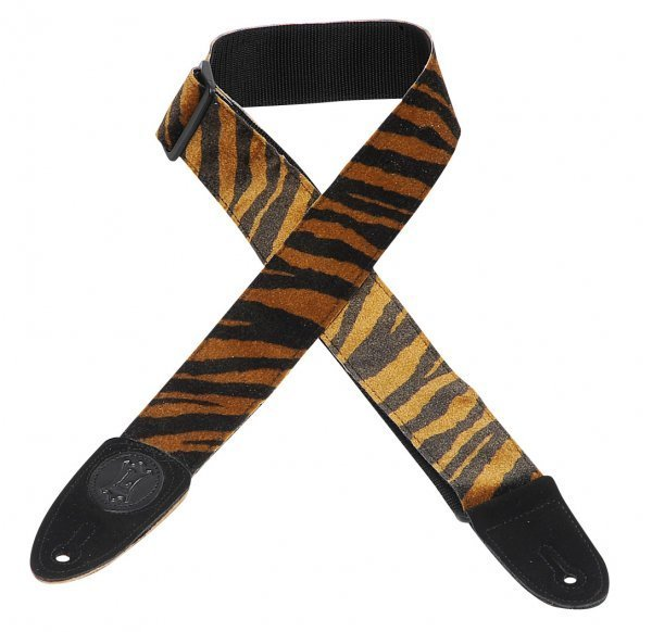 View larger image of Levy's MSSF8 2 Faux Fur Guitar Strap with Polypropylene Webbing Back - Tiger