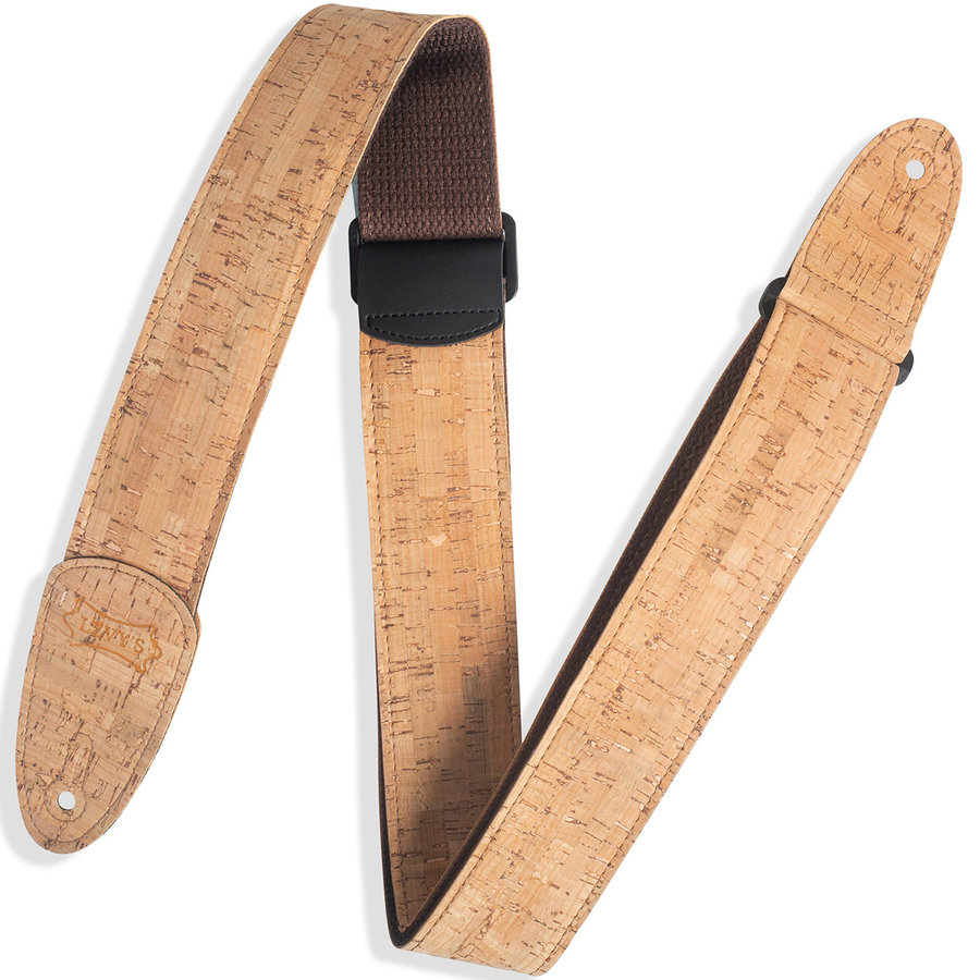 View larger image of Levy's MX8-NAT Cork Guitar Strap - Natural
