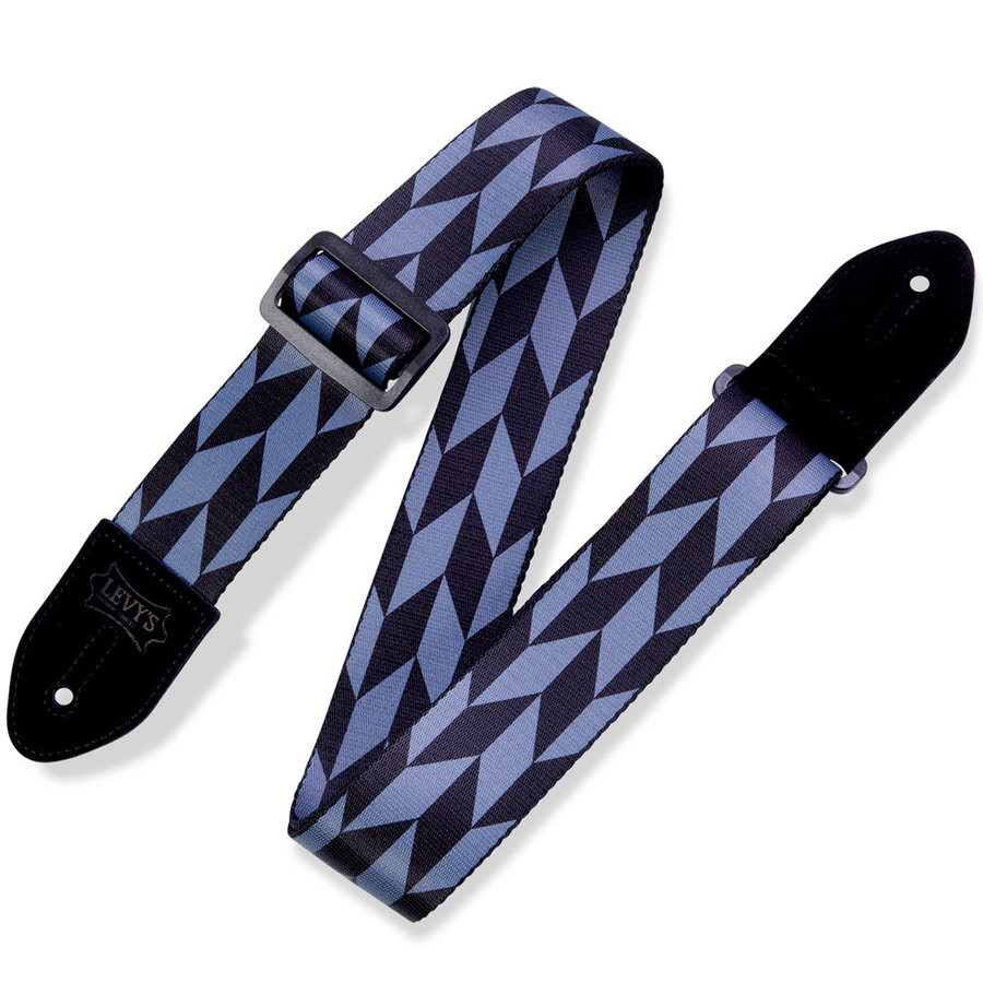 View larger image of Levy's Offset Arrow Guitar Strap - Black/Grey, 2