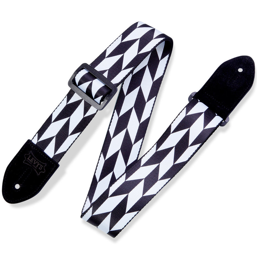 View larger image of Levy's Offset Arrow Guitar Strap - Black/White, 2