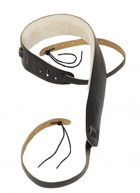 View larger image of Levy's PM14 2 1/2 Leather Banjo Strap - Sheepskin Lining - Black