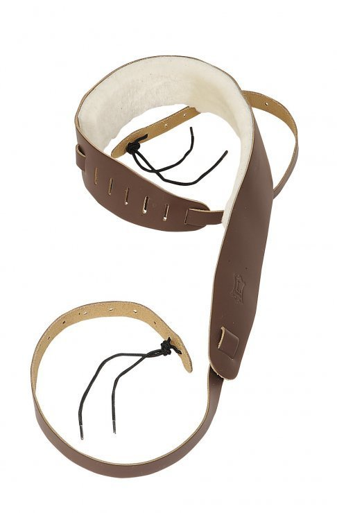 View larger image of Levy's PM14 2 1/2 Leather Banjo Strap - Sheepskin Lining - Brown