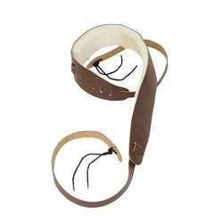 Levy's PM14 2 1/2 Leather Banjo Strap - Sheepskin Lining - Brown