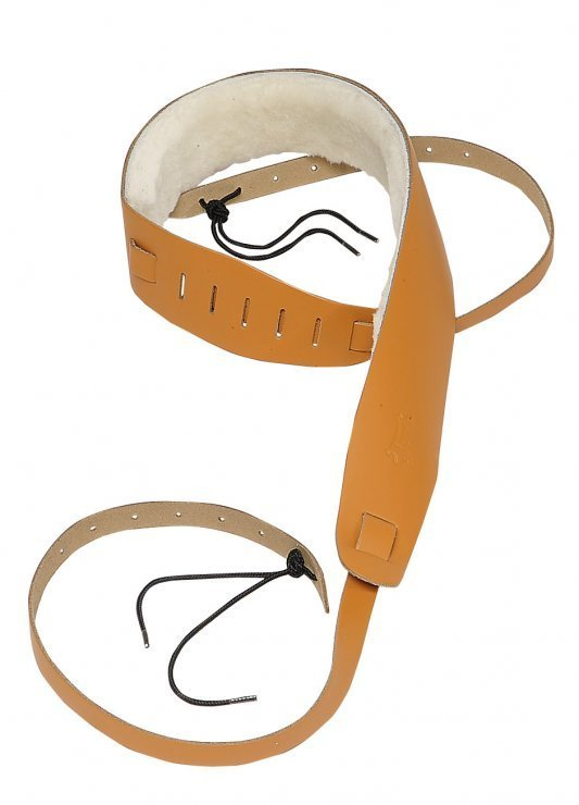 View larger image of Levy's PM14 2 1/2 Leather Banjo Strap - Sheepskin Lining - Tan