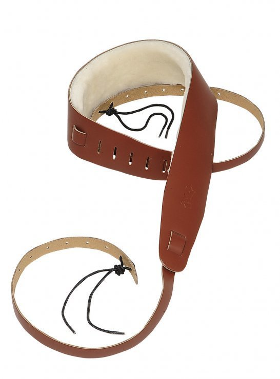 View larger image of Levy's PM14 2 1/2 Leather Banjo Strap - Sheepskin Lining - Walnut
