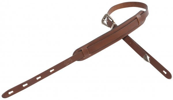 View larger image of Levy's PM23 1 Carving Leather Guitar Strap with 2 Movable Foam Pad - Brown