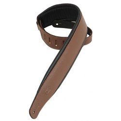 Levy's PM32 3 Garment Leather Guitar Strap with Foam Padding - Brown