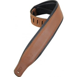 Levy's PM32 3 Garment Leather Guitar Strap with Foam Padding - Tan