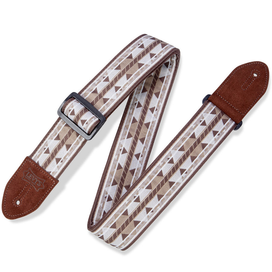 View larger image of Levy's Print Series Guitar Strap - Chocolate Diamond, 2
