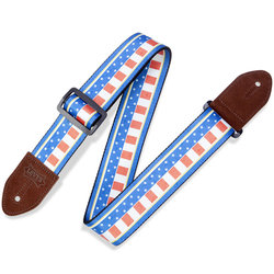 Levy's Print Series Guitar Strap - Patriot, 2